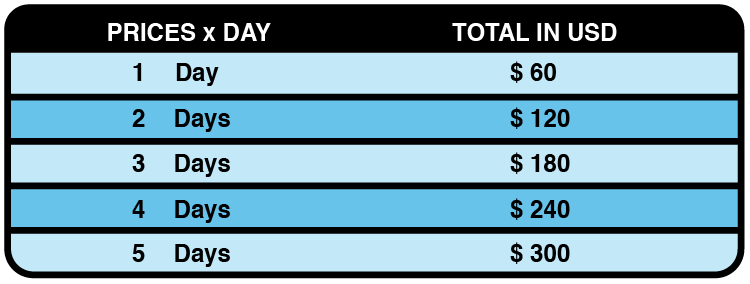 Daily Fee Structure